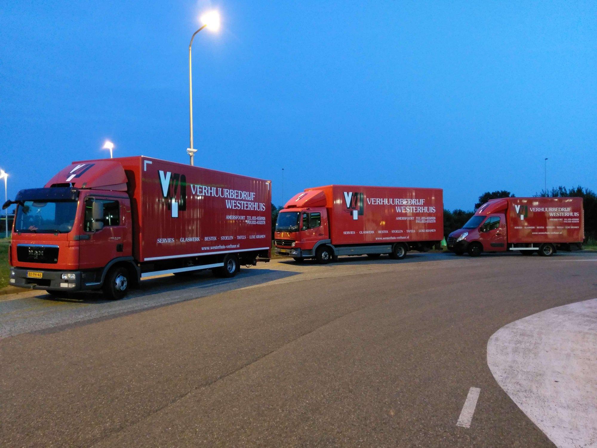 Verhuurbedrijf Westerhuis vrachtwagens